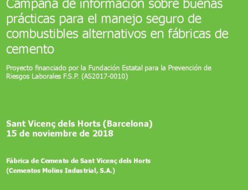 Jornada de presentación: Campaña de información sobre buenas prácticas para el manejo seguro de combustibles alternativos en fábricas de cemento