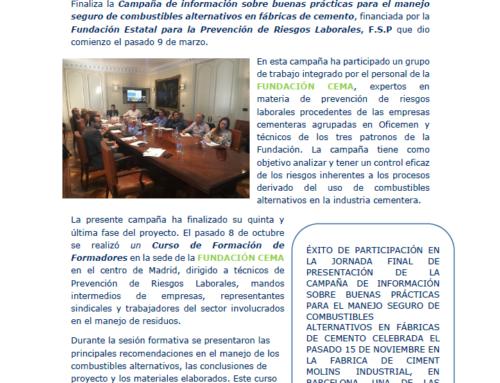 Éxito de participación en la jornada final de presentación del proyecto de manejo seguro de combustibles alternativos